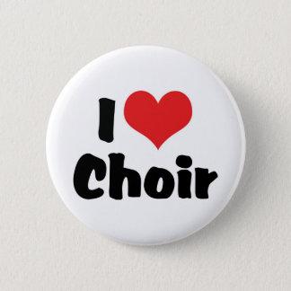 I Love Heart Choir 2 Inch Round Button
