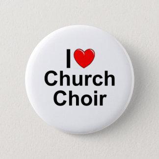 I Love (Heart) Church Choir 2 Inch Round Button