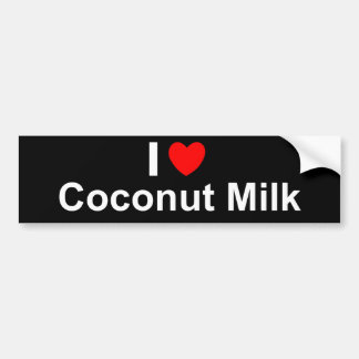 I Love Heart Coconut Milk Bumper Sticker