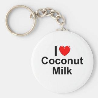 I Love Heart Coconut Milk Keychain