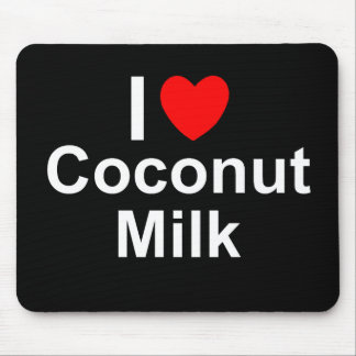 I Love Heart Coconut Milk Mouse Pad