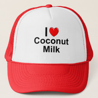 I Love Heart Coconut Milk Trucker Hat