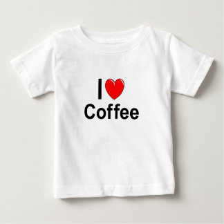 I Love Heart Coffee Baby T-Shirt