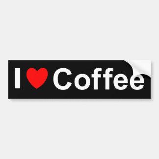 I Love Heart Coffee Bumper Sticker