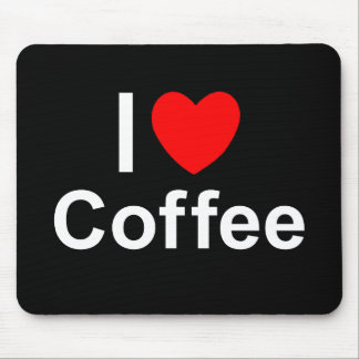 I Love Heart Coffee Mouse Pad