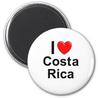I Love Heart Costa Rica Magnet