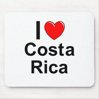 I Love Heart Costa Rica Mouse Pad