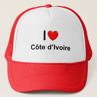 I Love Heart Côte d'Ivoire Trucker Hat