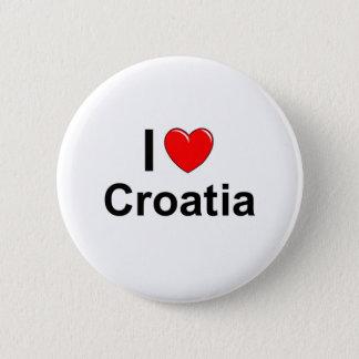 I Love Heart Croatia 2 Inch Round Button