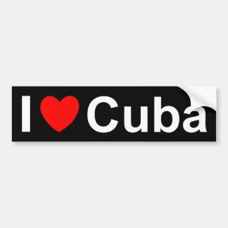 I Love Heart Cuba Bumper Sticker