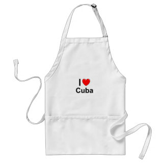 I Love Heart Cuba Standard Apron
