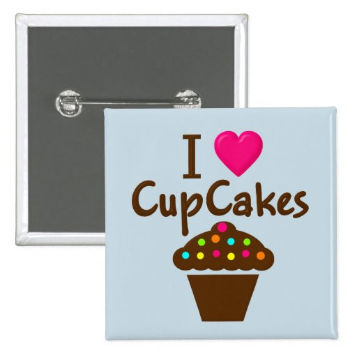 I Love/heart Cupcakes Pins