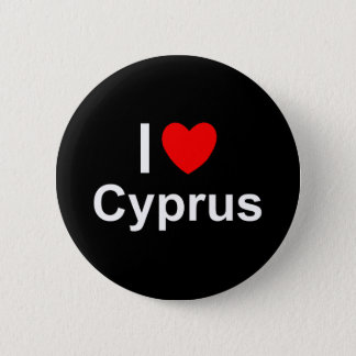 I Love Heart Cyprus 2 Inch Round Button