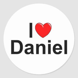 I Love (Heart) Daniel Classic Round Sticker