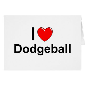 I Love Heart Dodgeball Card