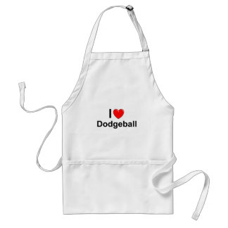 I Love Heart Dodgeball Standard Apron
