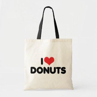 I Love Heart Donuts - Donut Snack Food Sugar Lover Tote Bag