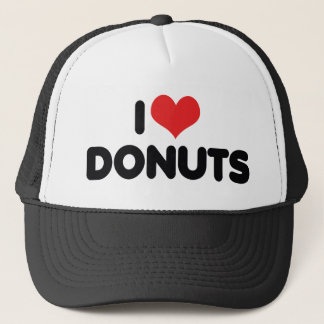 I Love Heart Donuts - Donut Snack Food Sugar Lover Trucker Hat