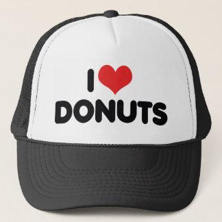 I Love Heart Donuts - Donut Snack Food Sugar Lover Trucker Hat