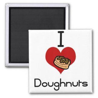 I love-heart doughnut fridge magnet