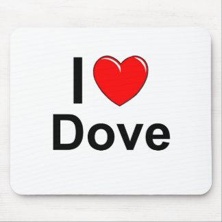I Love Heart Dove Mouse Pad
