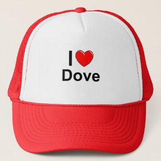 I Love Heart Dove Trucker Hat