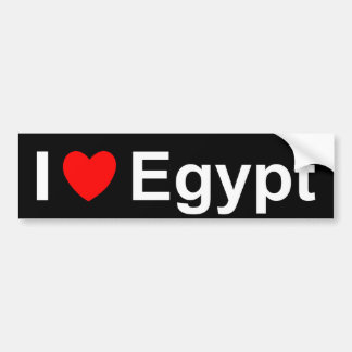 I Love Heart Egypt Bumper Sticker
