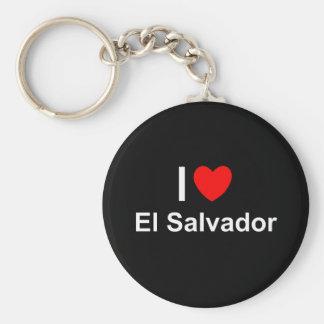 I Love Heart El Salvador Keychain