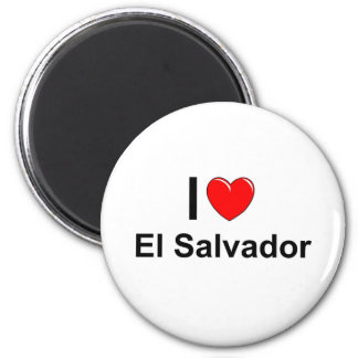 I Love Heart El Salvador Magnet