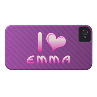 i love / heart emma blackberry bold phone case Case-Mate iPhone 4 cases