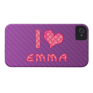 i love / heart emma blackberry bold phone case iPhone 4 cases