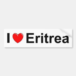 I Love Heart Eritrea Bumper Sticker