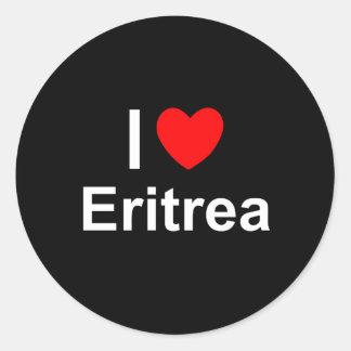 I Love Heart Eritrea Classic Round Sticker