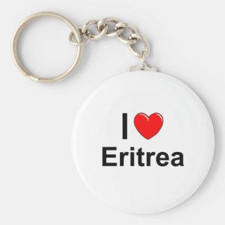I Love Heart Eritrea Keychain