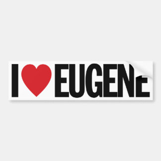 "I Love Heart Eugene 11"" 28cm Vinyl Decal"