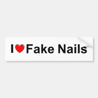 I Love (Heart) Fake Nails Bumper Sticker
