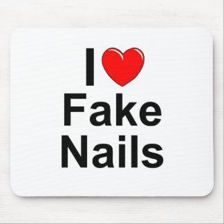 I Love (Heart) Fake Nails Mouse Pad