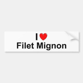 I Love Heart Filet Mignon Bumper Sticker