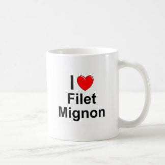 I Love Heart Filet Mignon Coffee Mug