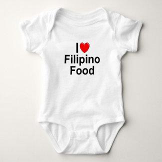 I Love ( Heart) Filipino Food Baby Bodysuit