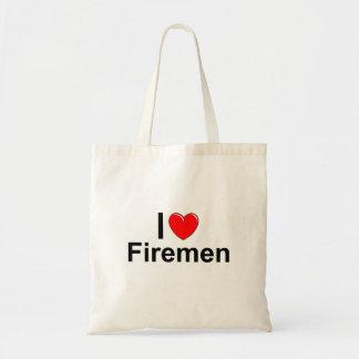I Love Heart Firemen Tote Bag