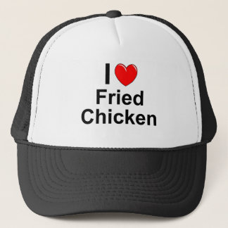 I Love Heart Fried Chicken Trucker Hat