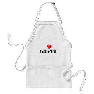 I Love (Heart) Gandhi Standard Apron