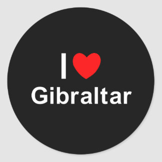 I Love Heart Gibraltar Classic Round Sticker