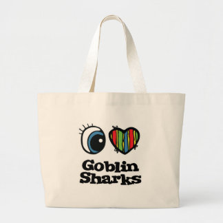 I Love (Heart) Goblin Sharks Large Tote Bag