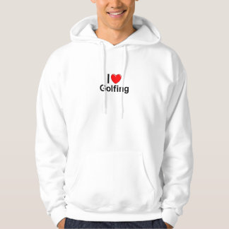 I Love Heart Golfing Hoodie