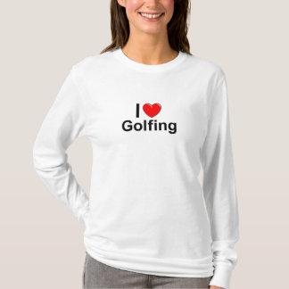 I Love Heart Golfing T-Shirt