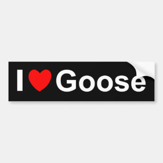 I Love Heart Goose Bumper Sticker