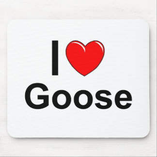 I Love Heart Goose Mouse Pad