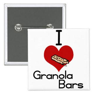 I love-heart granola bars pinback buttons